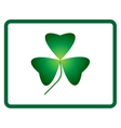 Sign three leaf clover 705 vector image