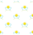 surfboards and sun seamless pattern in vector image