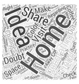 Sharing Home Decorating Ideas Word Cloud Concept vector image