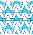 seamless pattern with hand drawn blue triangles vector image
