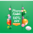 happy easter super sale banner background vector image