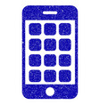 mobile apps icon grunge watermark vector image