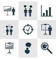 set of 9 administration icons includes report vector image