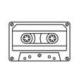retro cassette icon black line simple isolated vector image