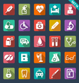 Medical and healthcare icons vector