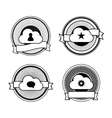 Black and white cloud stamps vector image vector image