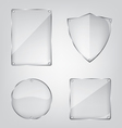 Glass frame collection vector image vector image