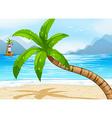 Beach vector image