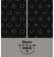 Two black hipster style seamless background vector image vector image