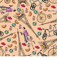 pattern with the Eiffel Tower and perfume vector image