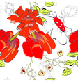 colorful seamless wallpaper with flowers vector image vector image