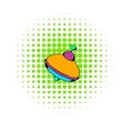 Toy spinning top icon comics style vector image
