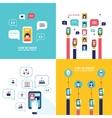 Social Network Technology Banner set User vector image vector image