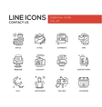 Contact Us - line design icons set vector image