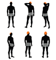 Set of men silhouette vector image vector image