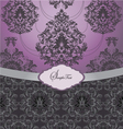 ornate wedding card vector image vector image