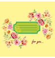 Postcard for you with flowers vector image