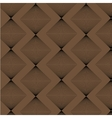 Brown rhombus strict style pattern vector image
