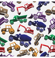 Color heavy machinery cars seamless pattern eps10 vector image