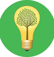Go green eco concept Flat design Icon in green vector image