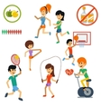 Icon set for active lifestyle sport nutrition vector image