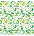 Ink feather seamless pattern Hand drawn doodle vector image