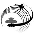 Radar station vector image