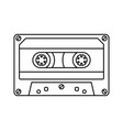 retro cassette icon black line simple isolated vector image