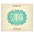 Stylized seashell on summer beach vector image