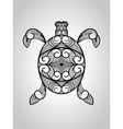 Turtle tattoo style vector image