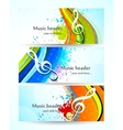 Set of music banners vector image vector image