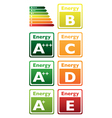 Energy signs vector image vector image