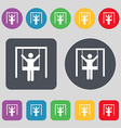 child swinging icon sign A set of 12 colored vector image