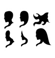 styles hair silhouettes woman hairstyle vector image vector image