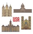 USA travel landmarks icon of Utah architecture vector image