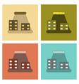 assembly flat icons tsunami city vector image