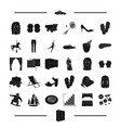 atelier rest sports and other web icon in black vector image