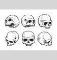 Skulls Hand Drawn Set 1 vector image