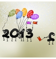 Funny 2013 New Years Eve greeting card  EPS8 vector image
