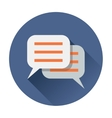chat speach bubble icon vector image