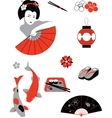 Japanese set vector image