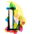 Artistic Font - Letter L vector image