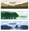 Tree Forest Banners Set vector image