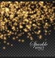 gold glittering star dust vector image