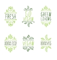 Hand-sketched typographic elements Vegan product vector image