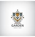 linear logo Garden flowers in modern vector image