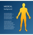 Medical background Abstract model of man vector image