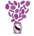 Potato chips taste of Eggplant Packaging bag of vector image