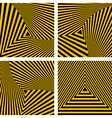 Striped triangles textures set vector image