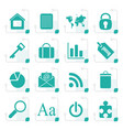 stylized simple business and internet icons vector image